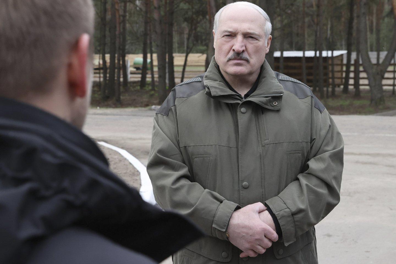 V.Putinas ir A.Lukašenka skelbė, kad džiaugiasi susitikimu Maskvoje.<br>AP/Scanpix nuotr.