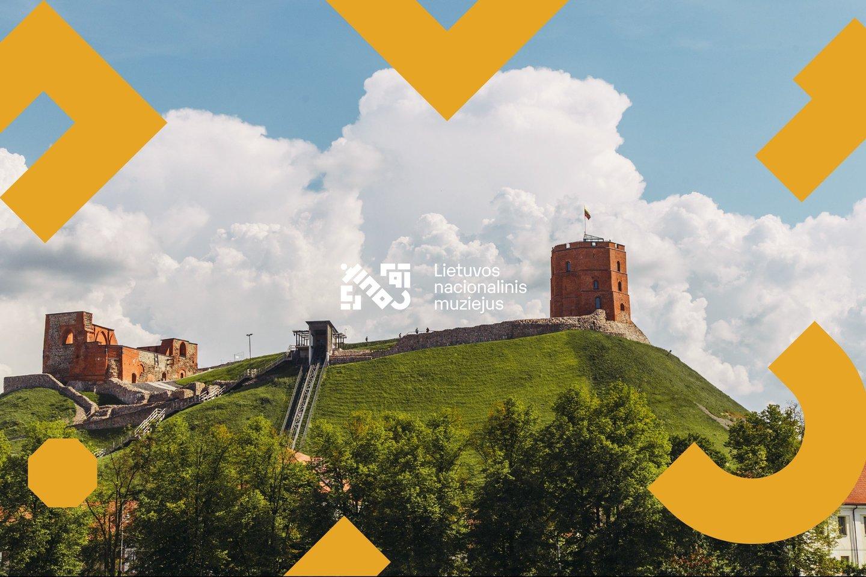 Lietuvos nacionalinis muziejus – Gedimino pilies bokštas, Naujasis ir Senasis arsenalai iš paukščio skrydžio.<br>LNM nuotr.