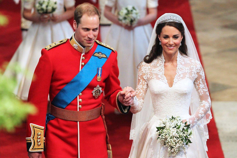 Princas Williamas ir Catherine Middleton vestuvių dieną.<br>PA Wire/PA Images/Scanpix nuotr.