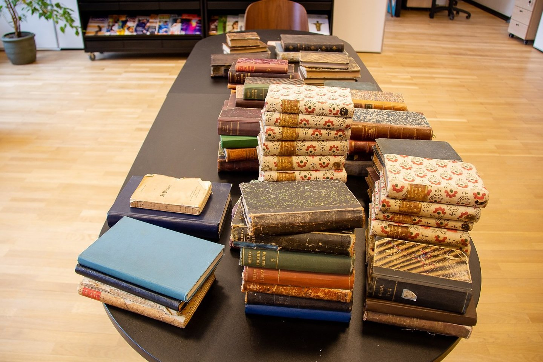 Kauno Vinco Kudirkos viešojoje bibliotekoje rastas senovinių knygų lobis.<br>Bibliotekos archyvo nuotr.