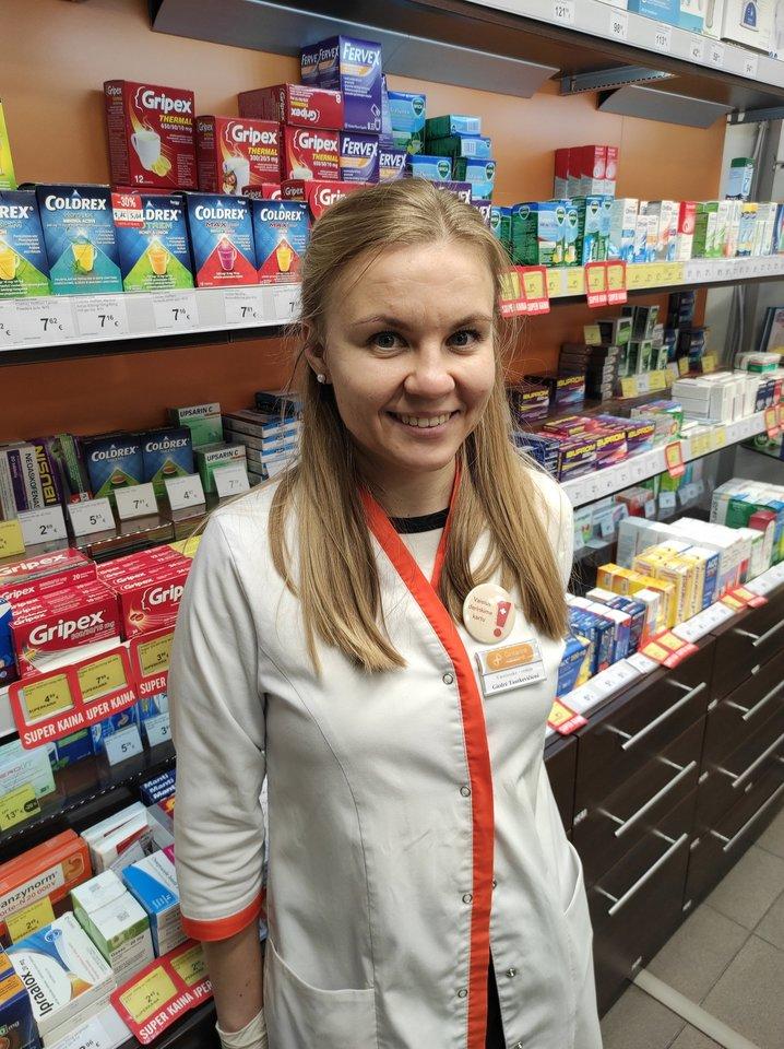 """""""Nėštumo metu yra labai siauras galimų preparatų asortimentas"""", – įspėja """"Gintarinės vaistinės"""" vaistininkė Giedrė Tautkevičienė.<br>Pranešimo spaudai nuotr."""
