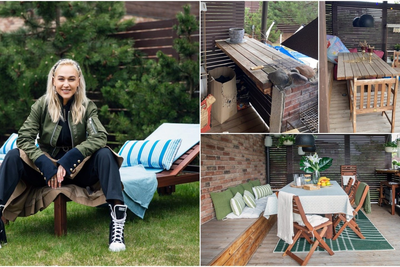"""Terasos atnaujinimą I. Stonkuvienė patikėjo """"Ikea"""" interjero dizaineriams (taip terasa atrodė prieš)."""