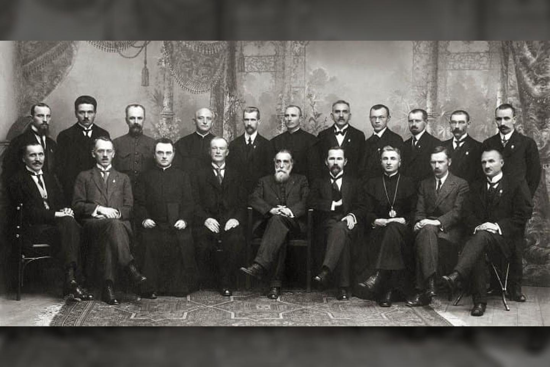 Lietuvos Nepriklausomybės akto signatarai, originali nuotrauka.<br>Originali nuotrauka.