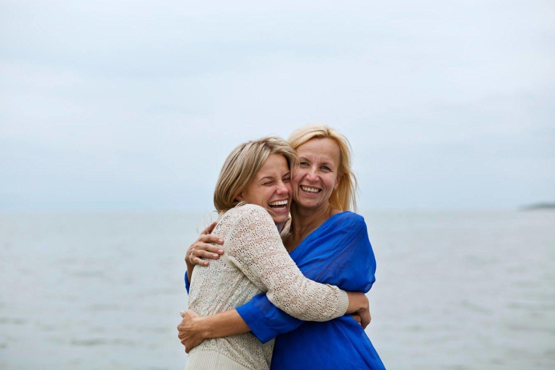 Ingrida Gereksonė džiaugiasi savo santykiais su dukra fotografe Neringa Rekašiūte.<br>Asmeninio albumo nuotr.