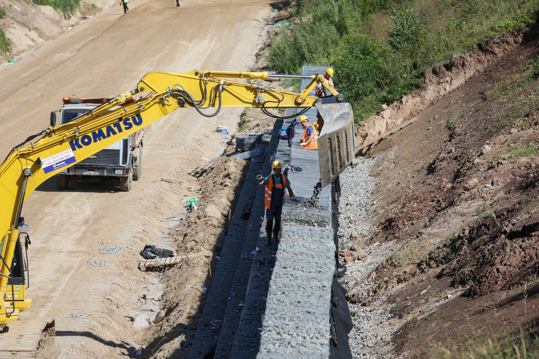 """Rail Baltica"" statybos.<br>G.Bitvinsko nuotr."
