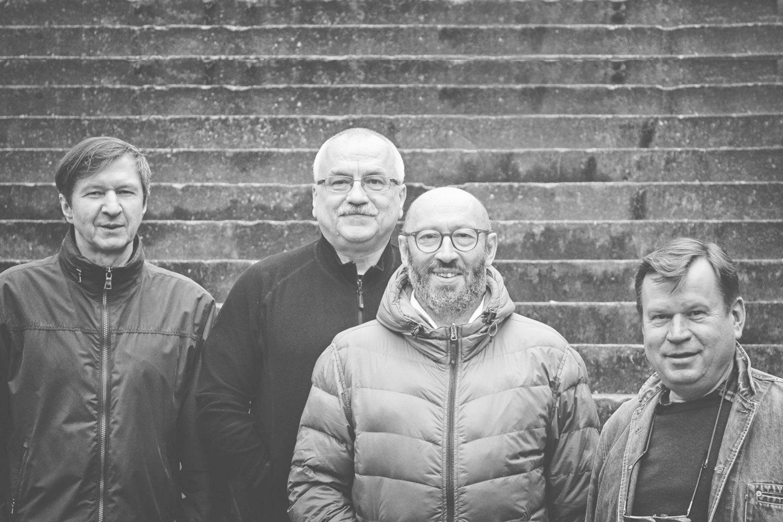 """19-ajame """"Vilnius Mama Jazz"""" pasirodys (iš kairės) E.Kanevičius, V.Labutis, A.Gotesmanas ir P.Vyšniauskas.<br>Organizatorių nuotr."""