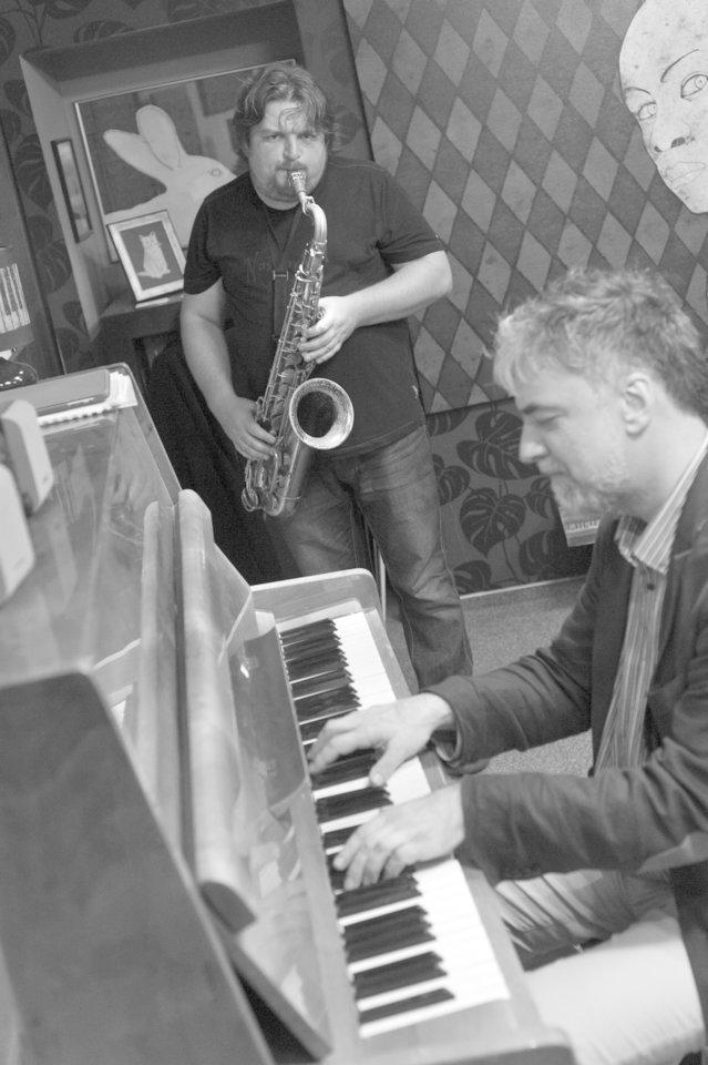 """19-ajame """"Vilnius Mama Jazz"""" pasirodys L.Mockūnas su P.Geniušu.<br>Organizatorių nuotr."""