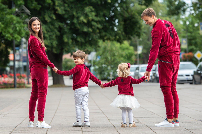 Agnės ir Nerijaus Juškų šeimoje – dviguba šventė.<br>L.Kondratės nuotr.