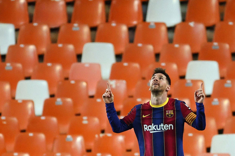 L.Messi pelnė du įvarčius.<br>AFP/Scanpix nuotr.