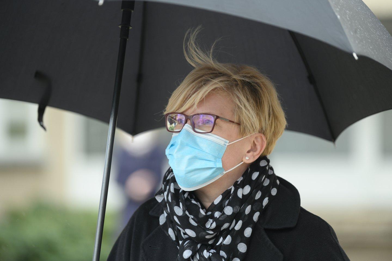 Vakcinacija, Trakai, Ingrida Šimonytė.<br>V.Skaraičio nuotr.