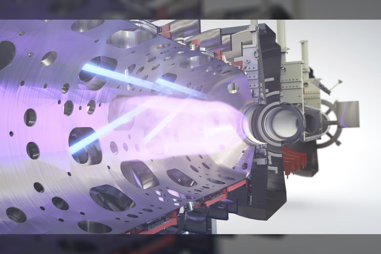 """Didžiausia pasaulyje privati termobranduoline sinteze užsiimanti kompanija """"TAE Technologies"""" paskelbė iki 2030 turėsianti komerciškai pelningą termobranduolinę jėgainę.<br>""""TAE Technologies"""" iliustr."""