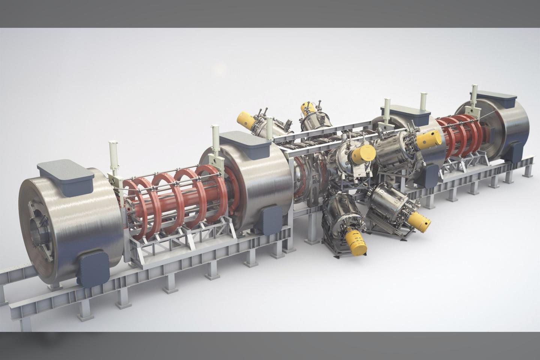 """Reaktorius yra daugiau nei 24 metrų ilgio, beveik 7 metrų pločio ir sveria daugiau nei 27 tonas.<br>""""TAE Technologies"""" iliustr."""