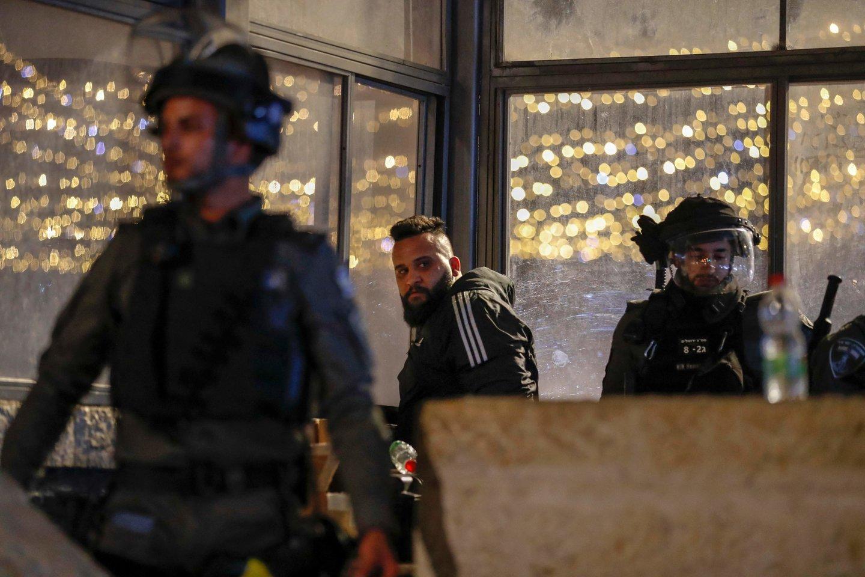 Izraelio saugumo pajėgos sulaikė 11 palestiniečių. (Asociatyvi nuotr.)<br>AFP/Scanpix nuotr.