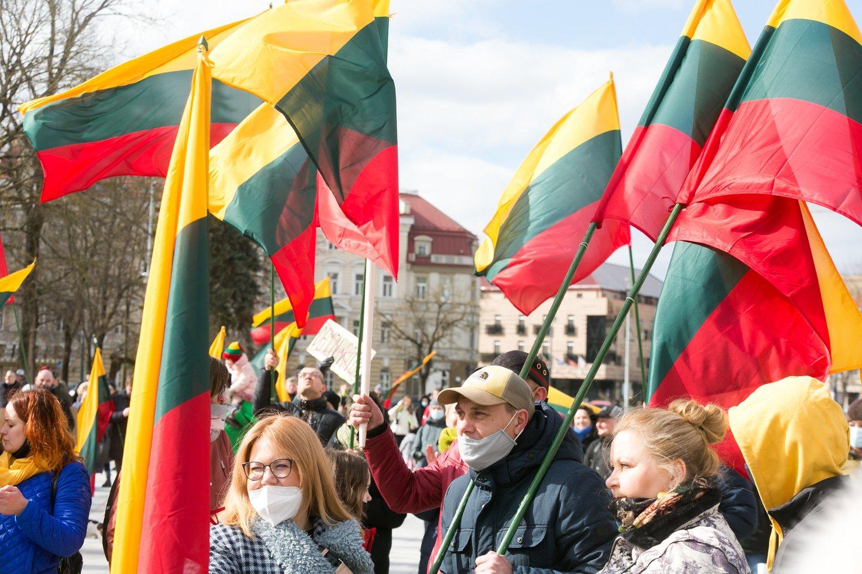 Protestas.<br>T.Bauro nuotr.