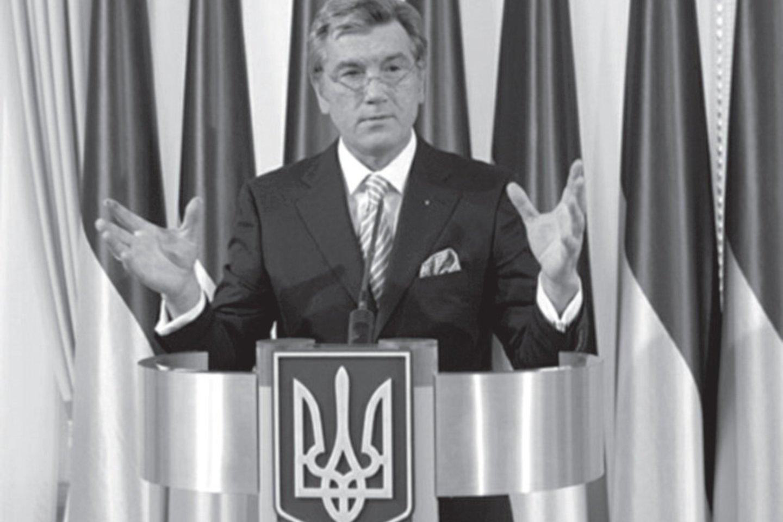 V. Juščenka – buvęs Ukrainos prezidentas. 2004 m. imta kalbėti, kad jis galėjęs būti apnuodytas Kremliaus nurodymu.<br>Leidėjų nuotr.