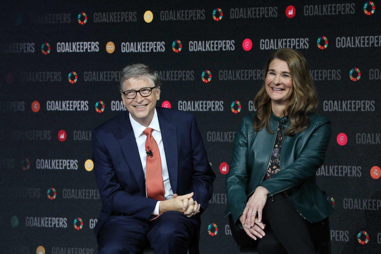 Po 27 santuokos metų skiriasi Billas ir Melinda Gates.<br>AFP/Scanpix nuotr.