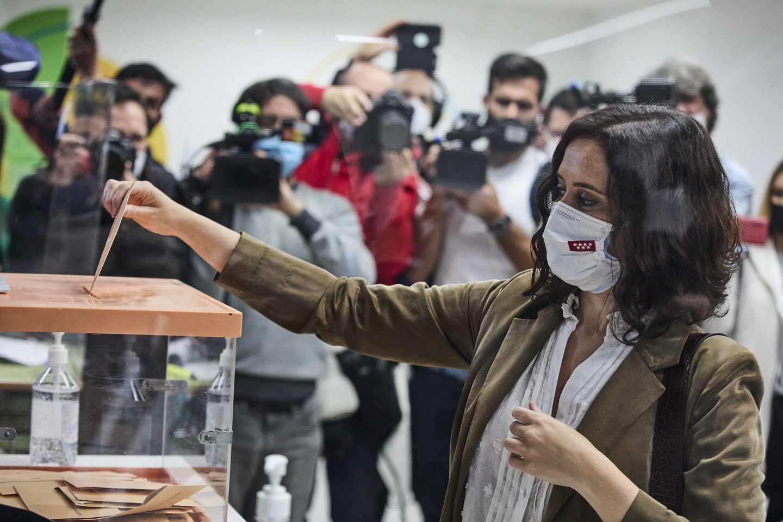 Madrido regiono gyventojai renka naują parlamentą. <br>ZUMA Press/Scanpix nuotr.