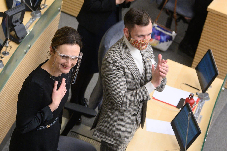 Viktorija Čmilytė-Nielsen ir Tomas Vytautas Raskevičius.<br>V.Skaraičio nuotr.
