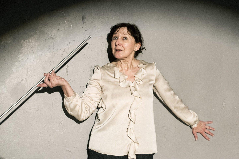 Spektaklyje vaidina N. Bulotaitė.<br>D.Matvejevo nuotr.