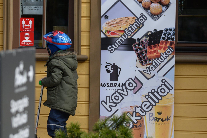 Karantinas Lietuvoje.<br>V.Skaraičio nuotr.