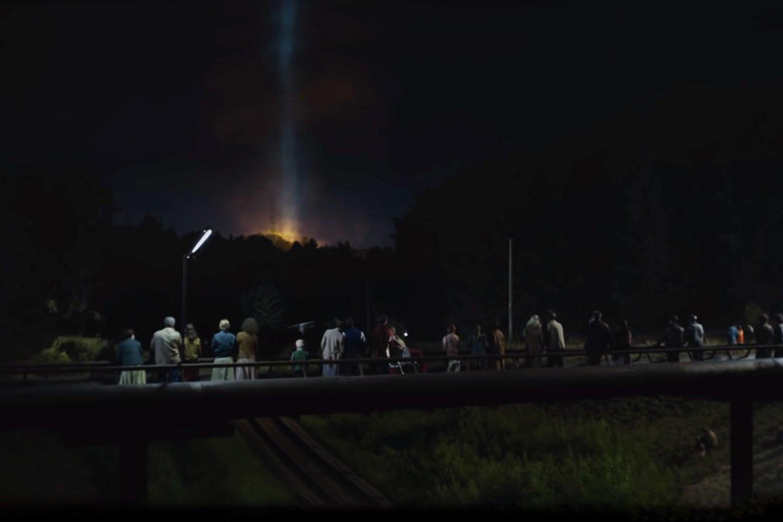 Neįprastas ir vienintelis kelio ženklas Kaune su nuoroda apie Černobylį veda į kino lokaciją.<br>Kauno m. sav. nuotr.
