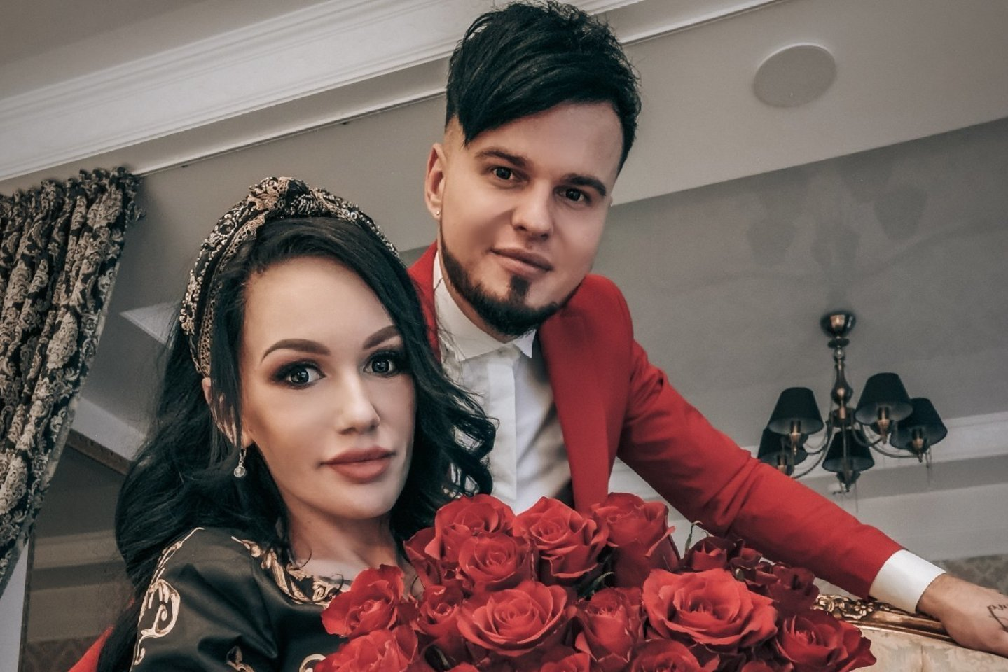 Justina Partikė su vyru Vyteniu<br>Asmeninio albumo nuotr.