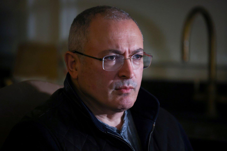 "Michailas Chodorkovskis vadovavo naftos milžinei ""Jukos"".<br>Reuters/Scanpix nuotr."