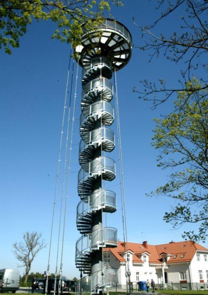 Pakilti į Krekenavos regioninio parko apžvalgos bokštą netrukus kainuos 2 eurus.<br>A.Švelnos ir redakcijos archyvo nuotr.