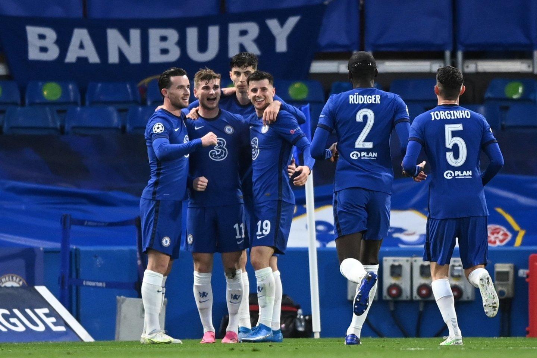 """Londono""""Chelsea"""" žengė į Čempionų lygos finalą.<br>Reuters/Scanpix nuotr."""