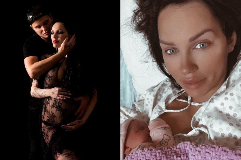 Moteris pagimdė mergaitę.<br>Lrytas.lt koliažas.