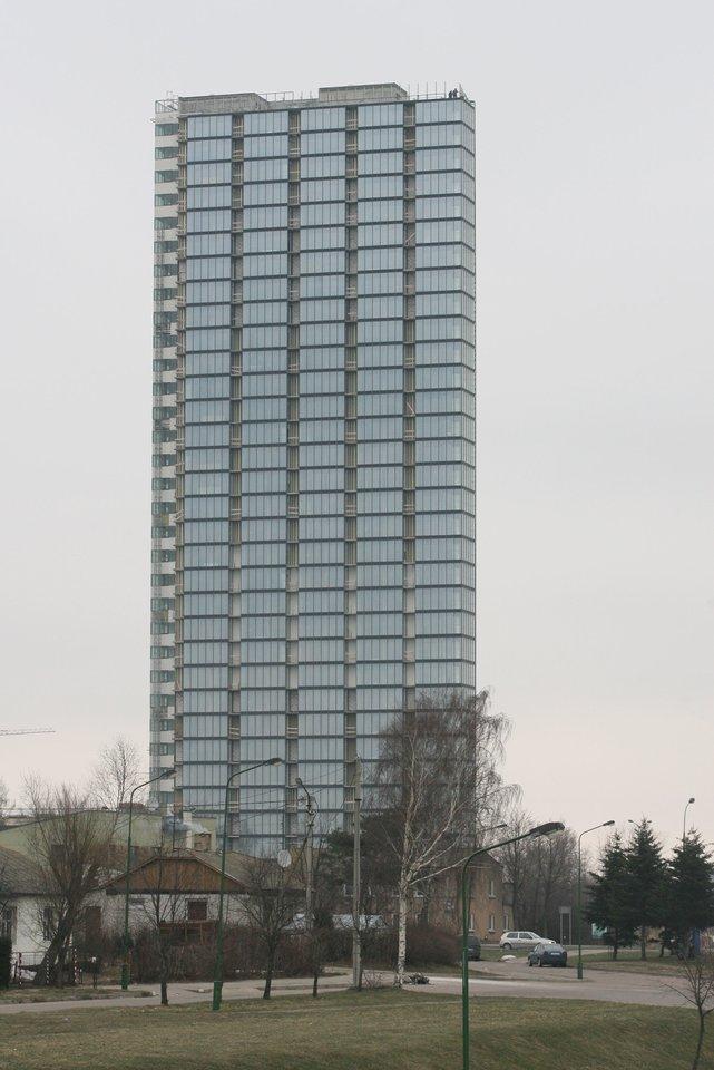 """Aukščiausias Lietuvoje gyvenamasis dangoraižis """"Pilsotas"""" .<br>B.Beinoravičiaus nuotr."""
