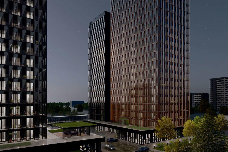 """Sostinėje dygsta dangoraižis """"Skylum"""".<br>""""Omberg"""" iliustr."""