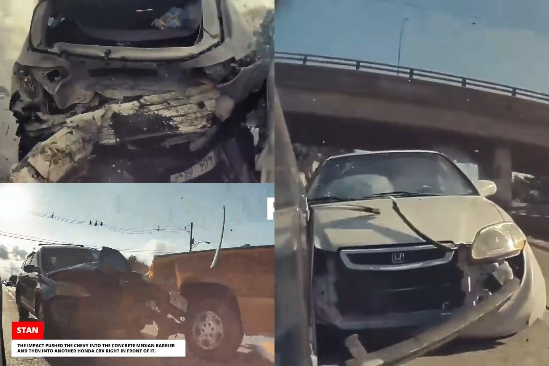 """""""Tesla"""" automobiliai yra nusagstyti kameromis.<br>lrytas.lt fotomontažas"""