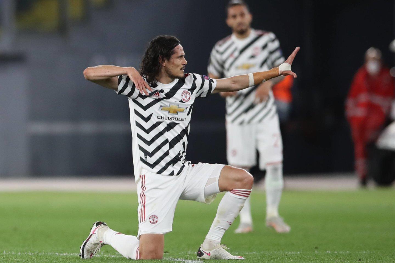 "E.Cavani gelbėjo ""Manchester United"".<br>AFP/Scanpic.com nuotr."