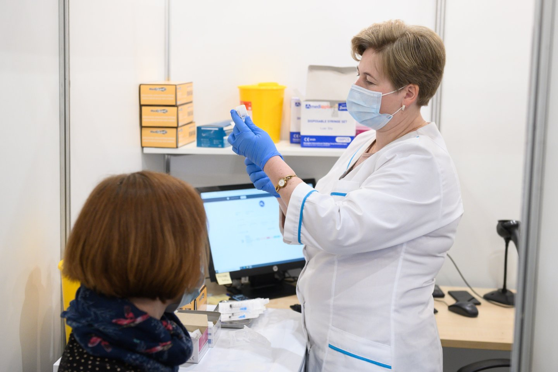 Vakcinacija Lietuvoje.<br>V.Skaraičio nuotr.