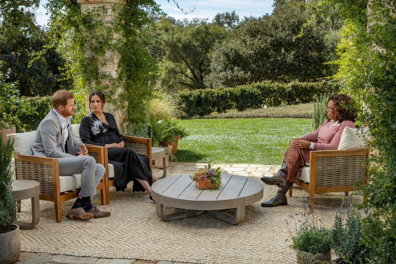 Praėjo beveik du mėnesiai po to, kai princas Harry (36 m.) ir Meghan Markle (39 m.) atsivėrė Amerikos televizijos žvaigždei Oprah Winfrey (67 m.).<br>Reuters/Scanpix nuotr.