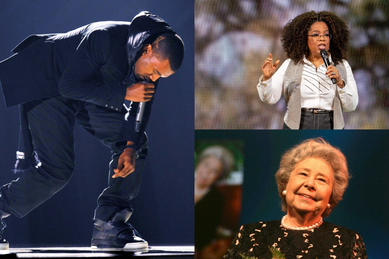 Kanye Westas, Oprah Winfrey ir Christa Ludwig.<br>lrytas.lt montažas.