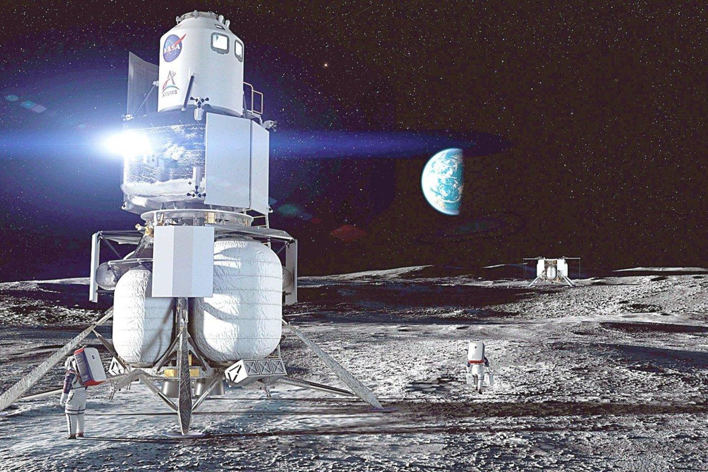 J.Bezosas brandina kosminius planus ir jau net sukūrė būsimos Mėnulio stoties vizualizaciją, tačiau dėl šio užsakymo jam teks pakovoti su konkurentais.