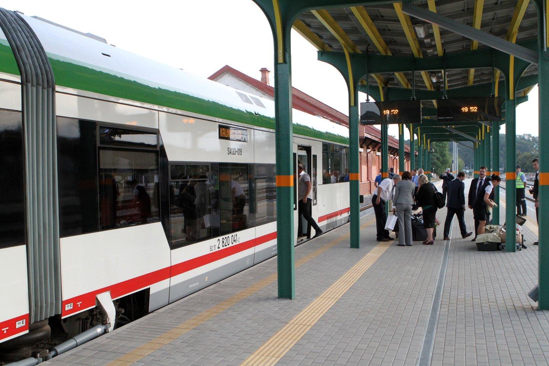 """Kelionės iš Vilniaus į Kauną """"Rail Baltica"""" truks 38 minutes, Rygą ir Taliną pasieksime greičiau nei lėktuvu.<br>M.Patašiaus nuotr."""