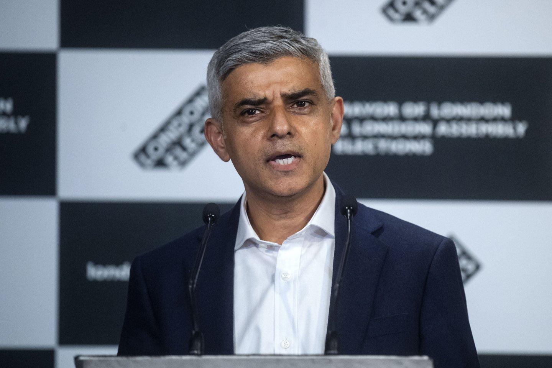 Leiboristas S. Khanas perrinktas Londono meru.<br>AP/Scanpix nuotr.