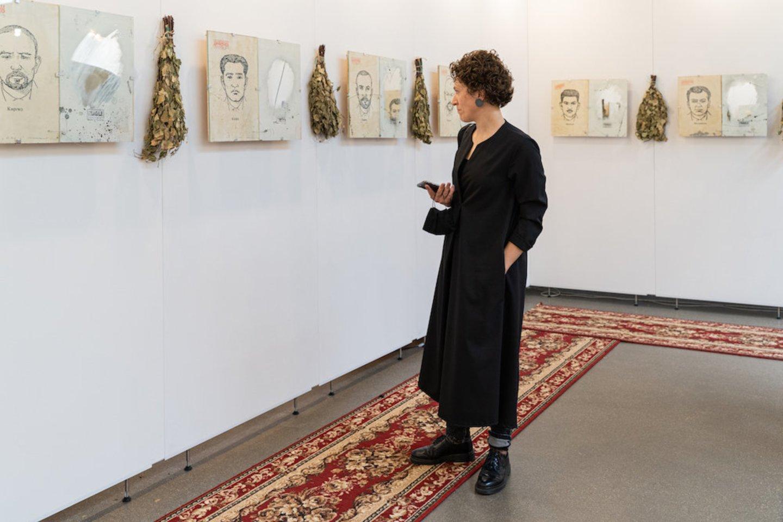 """Akimirka iš meno mugės """"ArtVilnius '20"""".<br>Nuotr. iš rengėjų archyvo"""