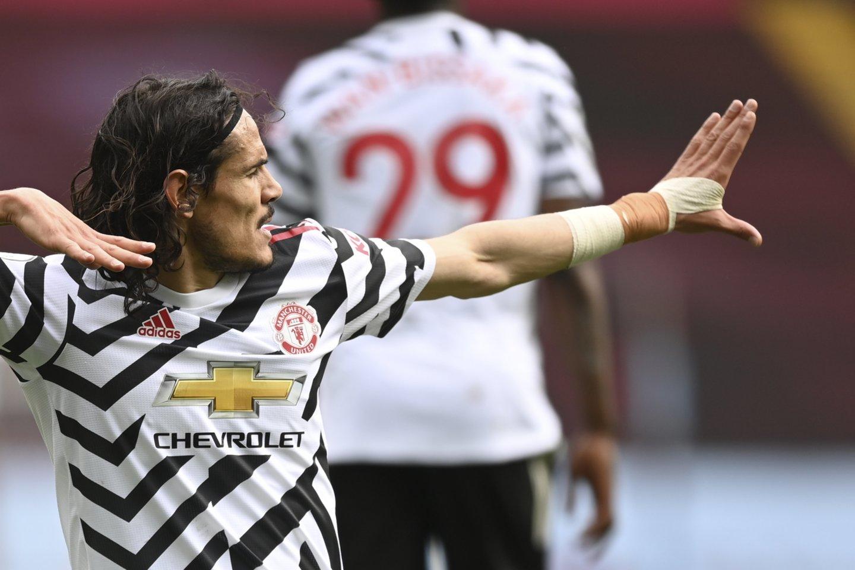 E.Cavani įvarčiu prisidėjo prie Mančesterio klubo pergalės.<br>AP/Scanpix nuotr.
