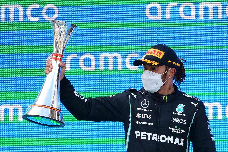 Katalonijos sostinėje triumfavo L.Hamiltonas.<br>AFP/Scanpix nuotr.