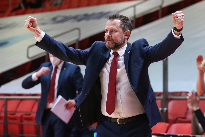 Vilniaus ekipos treneris G.Žibėnas.<br>R.Danisevičiaus nuotr.
