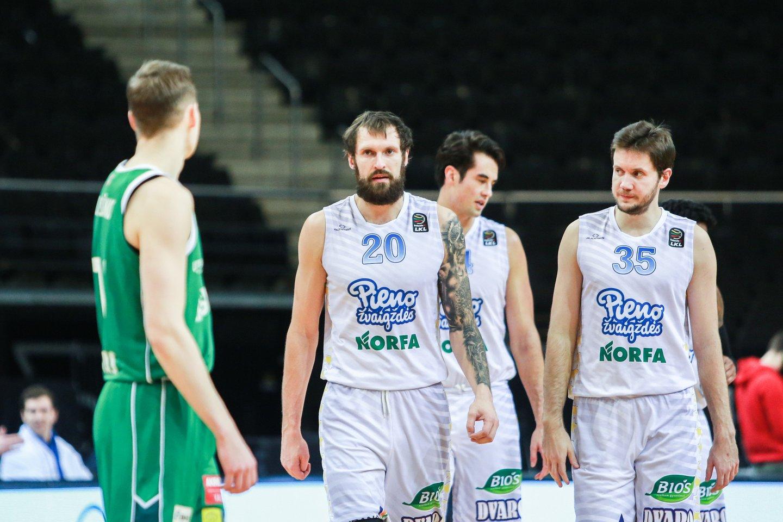 Pasvalio ekipa LKL reguliarųjį sezoną baigė aštuntoje pozicijoje.<br>G.Bitvinsko nuotr.