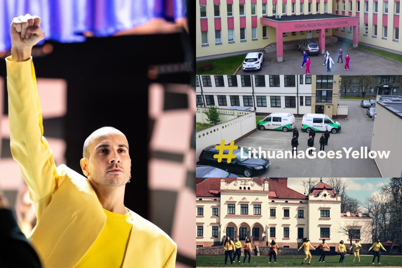 """Miestuose plinta geltonasis """"Discoteque"""" virusas: šoka medikai, pareigūnai ir vaikai<br>LR koliažas."""