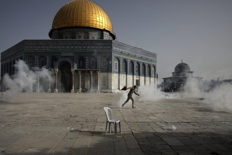 """Gazos Ruožą kontroliuojantis islamistų judėjimas """"Hamas"""" pirmadienį įspėjo Izraelį dėl eskalacijos<br>AP/Scanpix nuotr."""