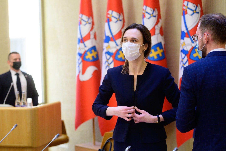Viktorija Čmilytė-Nielsen<br>V.Skaraičio nuotr.