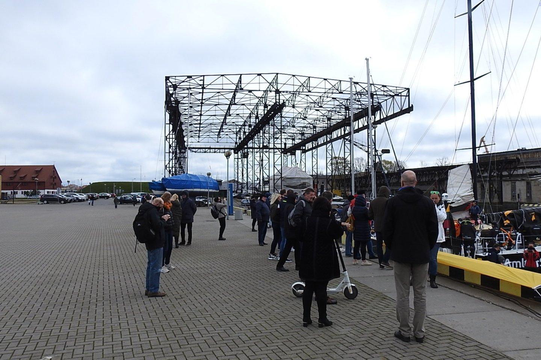 Klaipėdos kruizinių laivų terminale.<br>G.Pilaičio nuotr.