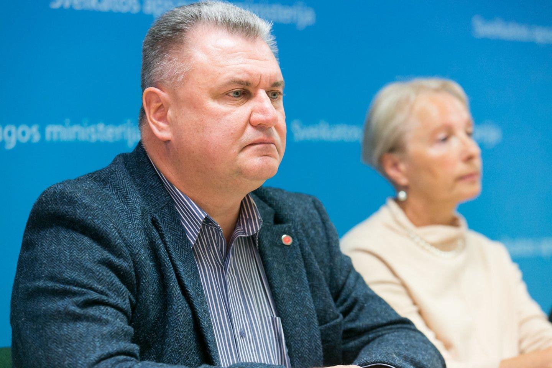 Lietuvos gydytojų sąjungos prezidentas Liutauras Labanauskas.<br>T.Bauro nuotr.